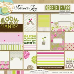 Greener Grass Journal Cards by Forever Joy at The Lilypad