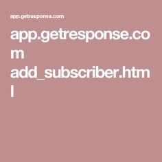 app.getresponse.com add_subscriber.html