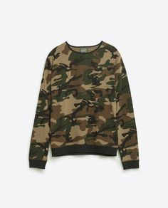 Image 8 of CAMOUFLAGE PRINT SWEATSHIRT from Zara
