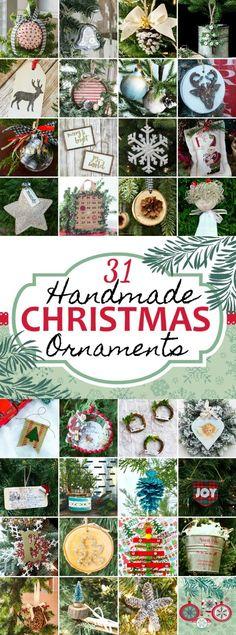 31 DIY Christmas Ornaments | Handmade Ornaments | Christmas crafts #christmas #christmastreedecor #ChristmasTree #diychristmas