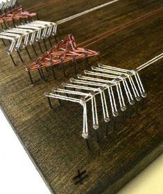 Chaîne de l'Art flèche chaîne Art String Art signe