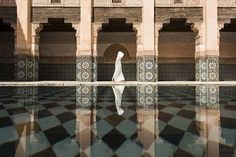 While waiting for three hours inside Marrakesh's Ben Youssef Madrassa to capture this shot, Japanese photographer Takashi Nakagawa had plenty of time to reflect on the beauty of the Moroccan landmark.