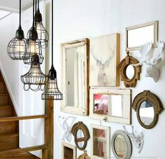 Espejos en la escalera para armonizar el chi