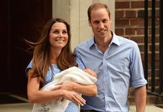 Kate and William introduce their son to the world for the first time on the steps of St Mary's Hospital in London July 23rd 2013, just as Diana and Charles did 31 years ago with William.