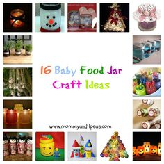 16 Fun Baby Food Jar Craft Ideas