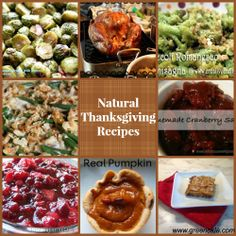 Natural thanksgiving recipes without junk like HFCS or canned soup