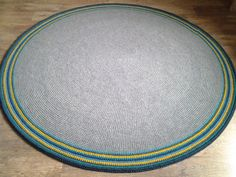 Large crochet round rug 79'' 200 cm/Crochet by AnuszkaDesign