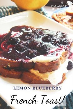 best french toast recipe-The easiest homemade French toast with lemon blueberry you will ever have! This simple French toast recipe is a great candidate to add to your recipe collection for the breakf Homemade French Toast, Best French Toast, Blueberry French Toast, French Toast Bake, Breakfast Menu, Breakfast Recipes, Breakfast Ideas, Sweets Recipes, Recipe Collection