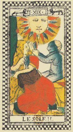 Il Sole - Tarocco Parigino di anonimo del sec. XVII