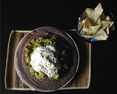 Three-layer vegetarian Mexican dip (or tortilla filling)