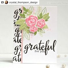 """420 Likes, 11 Comments - Winnie & Walter (@winnieandwalter) on Instagram: """"#Repost of our June Leading Lady @crystal_thompson_design debut!! ・・・ My first card for…"""""""