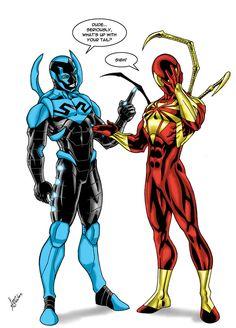 Resultado de imagen para spiderman y blue beetle