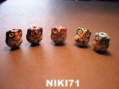 Porcelain Owl Beads  #13. Starting at $3 on Tophatter.com!