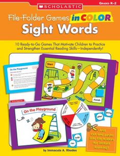 File-Folder Games in Color: Sight Words: 10 Ready-to-Go Games That Motivate Children to Practice and Strengthen Essential Reading Skills-Independently! by Immacula Rhodes http://www.amazon.com/dp/0439517656/ref=cm_sw_r_pi_dp_kD8Aub1Z044Z8
