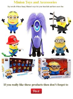 Have more fun with exciting minion's products and give amusement to your dear kids...