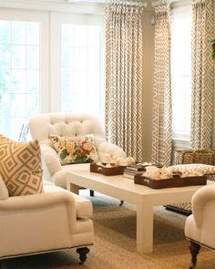 Neutral Design - Design Chic - geometric prints, seagrass rugs and baskets…love it all!