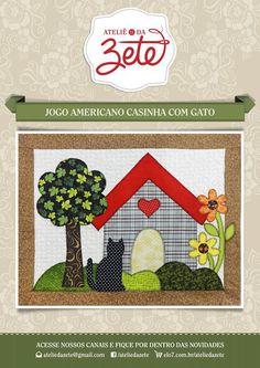 ideas jogo americano patchwork xicara for 2019 Crewel Embroidery, Vintage Embroidery, Embroidery Patterns, Mini Quilt Patterns, Raw Edge Applique, Mug Rugs, Applique Quilts, Creative Words, Quilt Blocks