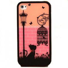Cute Case Iphone 4s Gato Birdcage