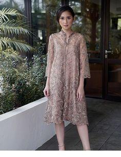 The dress is for Asia Inspiring Ladies Kebaya Lace, Kebaya Dress, Dress Pesta, Dress Brokat Modern, Kebaya Modern Dress, Dress Brukat, Batik Dress, Simple Dresses, Nice Dresses