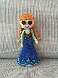 Crochet Anna - pattern from https://www.etsy.com/nl/listing/191170831/pattern-2-pack-anna-and-elsa-frozen?ref=shop_home_active_1