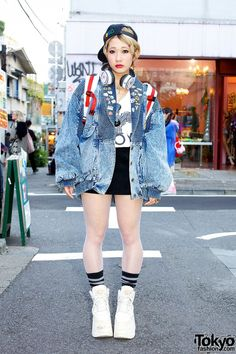 Tokyo Harajuku Kawaii girls fashion cute pop vivid neon colorful Japanese street styles as known as Kyary Pamyu Pamyu