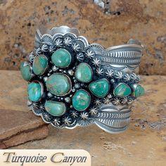 Navajo Dead Pawn Turquoise Bracelet by Yazzie SKU#223264
