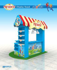 PRESIDENT alvita  -  Display Stand by Talal Al Jarrah, via Behance