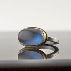Shop Moonstone Cabochon Ring on Wanelo