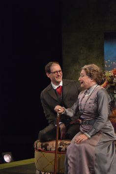 Sharon Lockwood and Anthony Fusco at the Pygmalion dress rehearsal. Photo by Jay Yamada.