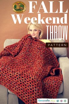 This snuggle-worthy throw from Lion Brand Yarn uses an open weave style, and works up extremely easily