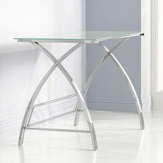 Zauriel Polished Chrome Computer Desk - #7C294 | Lamps Plus