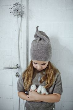 Cappello grigio marrone / rosa / baby / bambini / beanie slouchy di bambino /alpaca lana / over-dimensioni cappello grigio / maglia cappello unisex