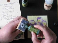 Adirondack Alcohol Ink Pansies & Violets on Glossy Paper —A video tutorial by Roni Johnson Alcohol Ink Tiles, Alcohol Ink Crafts, Alcohol Ink Painting, India Ink, Card Tutorials, Acrylic Pouring, Distress Ink, Pansies, Mixed Media