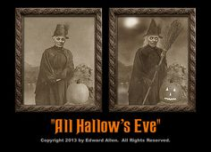 All Hallows Eve Witch Changing Photo
