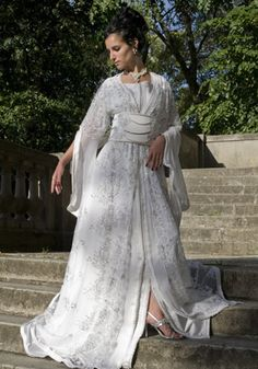Caftan wedding dress