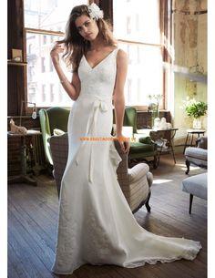 Meerjungfrau Designes Brautkleider 2014 aus Chiffon mit Applikation