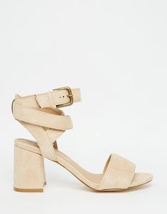 783be25afc5 Image 2 of Truffle Collection Wrap Around Ankle Strap Mid Heel Sandal Mid  Heel Sandals