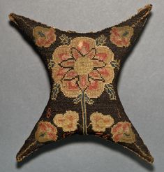 Tool (for sewing) ~ Pincushion ~ American ~ Canvaswork (Embroidered) Irish Stitch ~ Wool on canvas ~ Winterthur