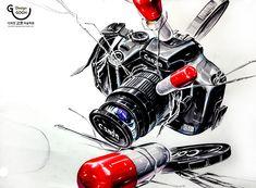 ★유튜브로 입시미술 배우기★ ♣그림을 클릭해 주세요!!!!♣ #기초디자인#디자인고흐#카메라#dslr#개체표현#수채화