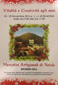 """Sabato 3 e domenica 4 dicembre al Richiedei i """"Mercatini Artigianali di Natale 2016"""" - http://www.gussagonews.it/mercatini-artigianali-natale-2016-richiedei-dicembre-2016/"""