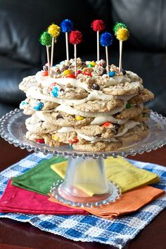 M&M Cookies Stack Cake