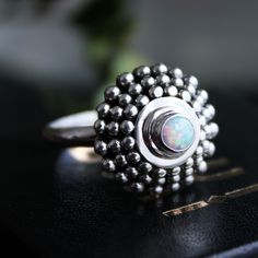 ✧♆✧ Brace yourself for winter with the Forest of Ice Snow Opal Ring ✧♆✧ Shop ⇢⇢ www.shopdixi.com // shop dixi // boho // bohemian // gothic // grunge // witchy // witchy // boho jewels // boho chic  // bohemian jewellery // bohemian jewelry // silver rings // sterling silver // gypsy jewels // rings // stacking rings // moon child // dark // mystic