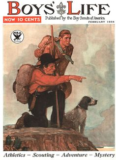 Boys Life 1934 ... 'Guide' - Norman Rockwell