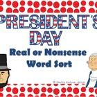 This is a President's Day themed Real or Nonsense Word Sorting activity. This activity can be used whole group or in a small group setting. Student...