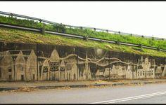 Artists choose to clean the walls to make more art. #InkedMagazine #reversegraffiti #streetart #art #graffiti