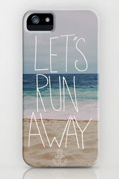 """Let's Run Away"". iPhone cover."