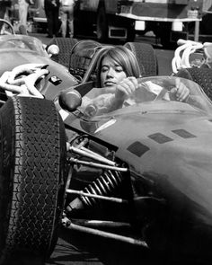 Francoise Hardy, 1966. From the latest collection with Sonic Editions. - still from Grand Prix (the best and only F1 movie ever made)