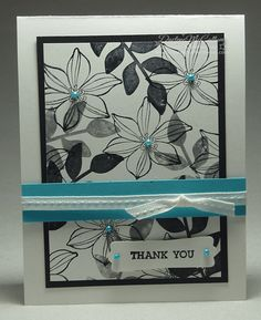 This Secret Garden card was meant to be a monochromatic black and white card but it really needed colour.