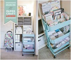 An Ikea Raskog cart, perfect organization for paper craft lovers!