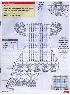 Crochet Doll Dress Applique Patterns 2